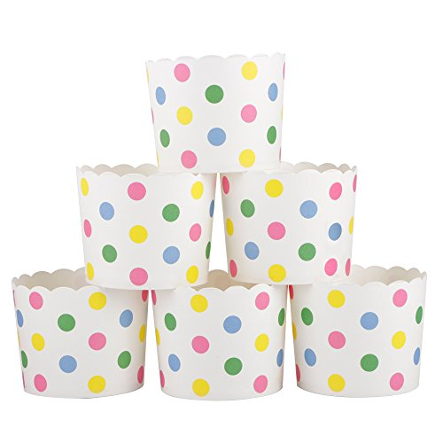 (Webake Large Paper Cake Baking Cup Cupcake Muffin Cases,Set of 25 (Colorful)