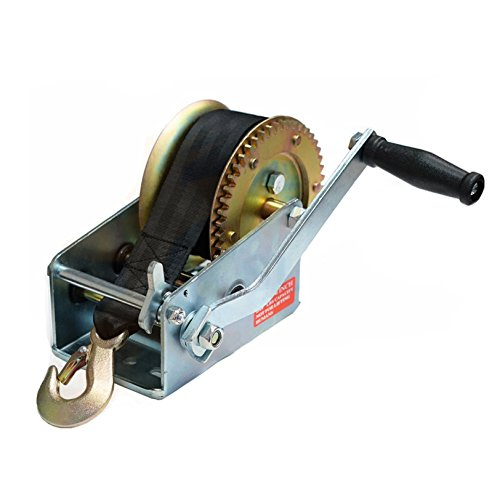 BOAR 2500LBS/1136KGS 2-Speed Strap Hand Winch for Boat, Trailer and 4WD