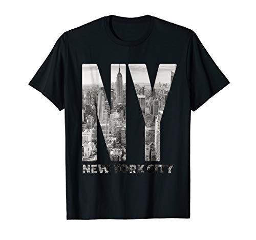 Manhattan Skyline Nyc - Mens New York City Skyline NYC Manhattan Shirt XL Black