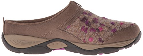 Easy Spirit Womens Eztime Clog Dark Taupe/Light Brown Suede v2paXjVm7d