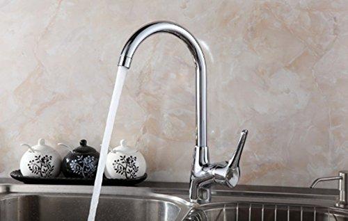 Armaturen alle Kupfer Küche kalt und Heißes Leitungswasser gemäße Waschbecken Wasserhahn Schüssel drehen, Edelstahl Waschbecken Armatur