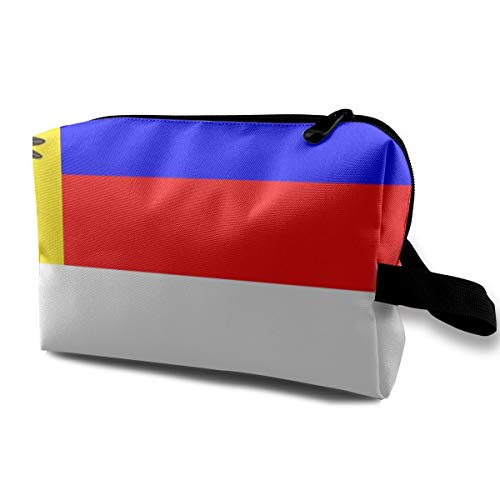 Make up Bag, Cosmetic Train Case Organizer Multi-Purpose Clutch Bag, Large Space Carrying Case Pen Case Box, Russian Flag, Women Ladies Portable ()