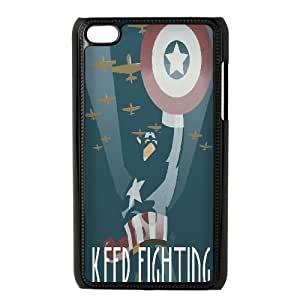 LSQDIY(R) Captain America iPod Touch 4 Personalized Case, Customised iPod Touch 4 Case Captain America