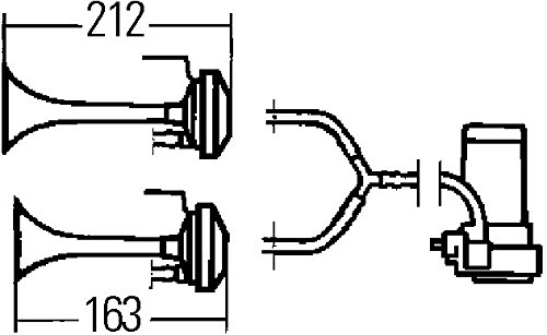 HELLA 3PB 003 001-651 Trompette