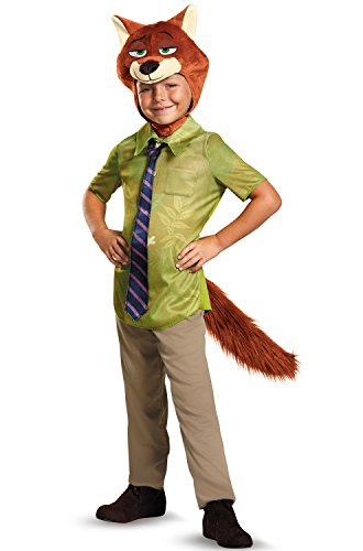 Nick Wilde Classic Zootopia Disney Costume, -