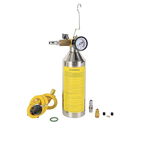 WUPYI Flush Canister Gun Kits,A/C AC Air Conditioner System Flush Canister Gun Kit for R134a R12 R22 R410a ()