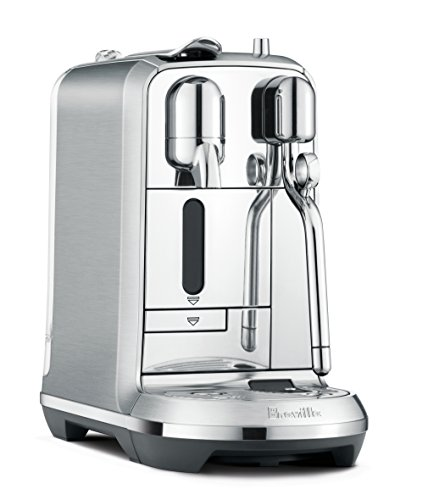41021PuOvfL - Nespresso Creatista Plus Espresso and Coffee Beverages Maker with Milk Frother by Breville, Silver