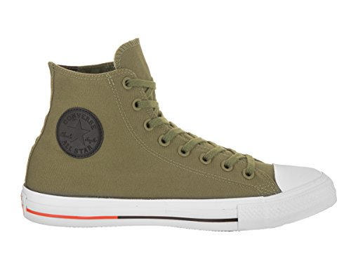 Converse - Zapatillas para hombre Fatigue Green/White/Signal Red