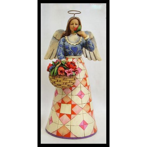 New 2007 Jim Shore - Jim Shore Angel with Basket of Flowers 4008943 Smell the Flowers