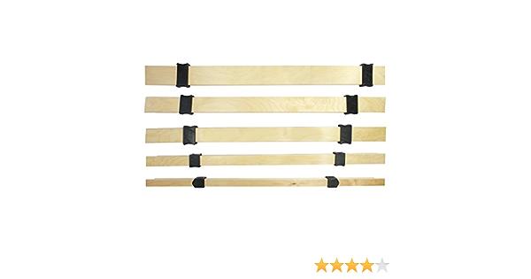 wiedergutschlafen Ajuste de dureza, juego completo de 63 mm x 8 mm (5 listones de madera y 10 deslizadores) para ajustar la dureza de tu somier (500).