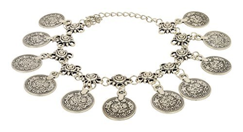 Accessorisingg Multiple Coin Charm Boho/Traditional Anklet/Bracelet for Bohemian Look [BR146] ()
