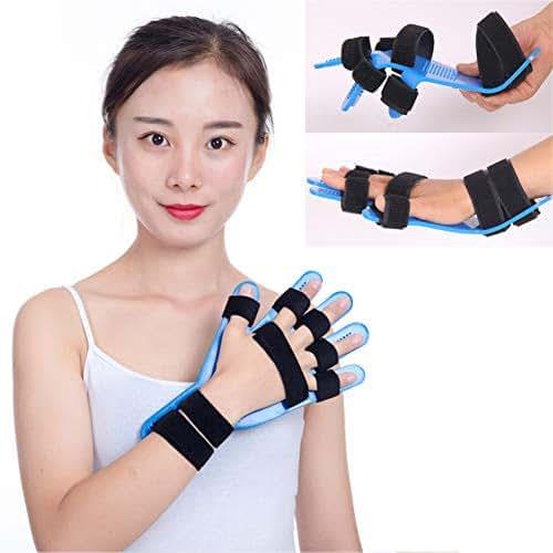 Finger Training Device,Stroke Rehab Equipment Finger Orthotics Fingerboard Stroke Hemiplegia Finger Orthotics Points for Stroke/Hemiplegia/Traumatic Brain Injury Suitable for Left and Right Han