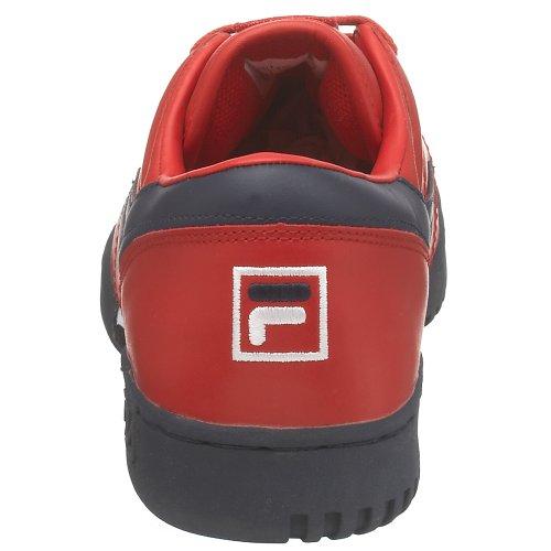 Fila Heren Originele Fitness Lea Klassieke Sneaker Rood / Navy / Wit