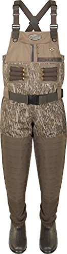 Drake Guardian Elite Insulated Breathable Chest Waders, Color: Mossy Oak Bottomland, Size: Size 10 - Stout (DF1120-006-10)