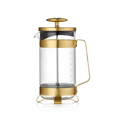 French Press Coffee Pot - Midnight Gold