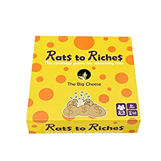 Rats to Riches - The Strategy Board Game of Schemes and Swindles - Sabotage and Steal Your Way to Become The Big Cheese - for Families and Kids Ages 8+