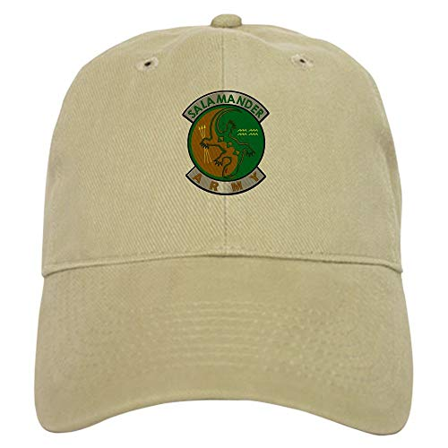 Salamander Army Baseball Cap Sun Hat, Adjustable Cap,Khaki