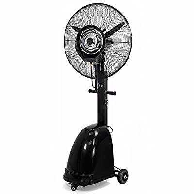 """9TRADING Commercial 26"""" High-Velocity Outdoor indoor Mist Fan Black Industrial Cool, Free Tax, Delivered within 10 days"""