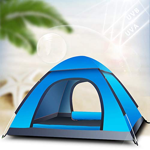 3-4 Person Family Camping Tent Portable Tent Waterproof Tent Shelter with Carry Bag for Picnic Hiking Fishing Outdoor Use