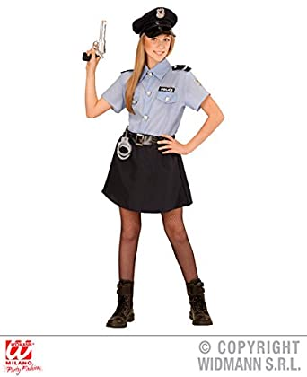 L Girls POLICE OFFICER GIRL Costume for Cop Policeman Copper Bobby Fancy Dress Outfit Large 140cm  sc 1 st  Amazon UK & Girls Kids Police officer Girl Outfit for Cop SWAT FBI Fancy Dress ...