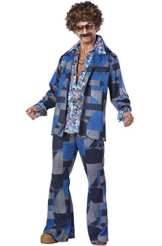 [California Costumes Men's Boogie Nights 70's Disco Costume, Blue, Large] (Mens Disco Costumes)