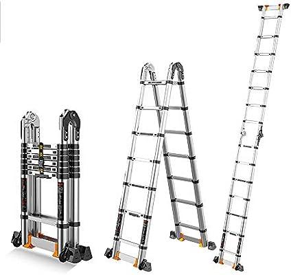 Extensibles Escalera telescópica multifuncional de la escalera de la ingeniería de la aleación de aluminio Escaleras de elevación plegables portátiles del hogar 6 tamaños interiores: Amazon.es: Bricolaje y herramientas