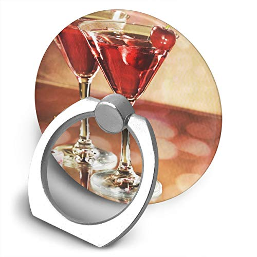 Round Finger Ring Stand Phone Holder Grip Cocktail Cherries 360°Rotation Kickstand for Smartphones and IPad