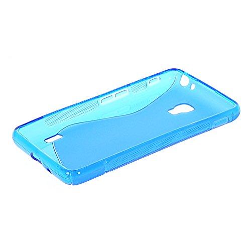 MOONCASE S-line Flexible Soft Gel Tpu Silicone Skin Slim Back Case Cover For LG Optimus F6 D500 Blue