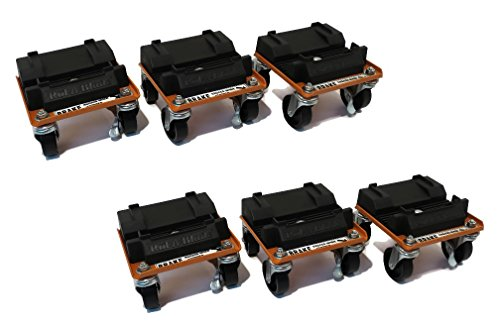 New Snow Plow - (2) New Snow Plow / Blade ROL-A-BLADE Caster Dollies Set of 6 - EASY Storage & Moving