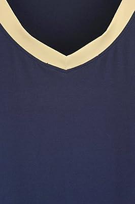 Latuza Women's Bamboo V-neck Sleepwear Short Sleeves Top with Pants Pajama Set