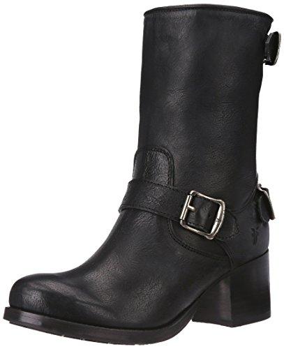 FRYE Women's Vera Back-Zip Short Boot, Black, 8 M US