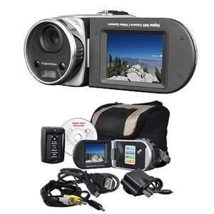 Mitsuba DV3000SLV 16MP  SD/SDHC Digital Camcorder w/8x Digit