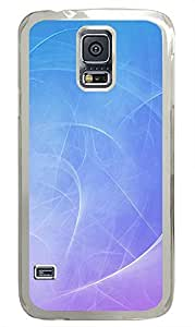 Samsung S5 silicone case Blue Swirls Background PC Transparent Custom Samsung Galaxy S5 Case Cover