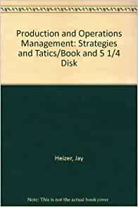Production and operations management book by stevenson