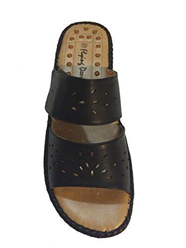 Black Acupressure Dress Back Open Women's Deer Sandals Flying nqwfx0c
