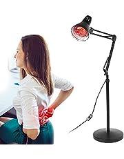 Rode lichtlamp, warmtelamp, infraroodlamp met standaard, infrarood lamp, warmtestraler, constante temperatuur, bestralingslamp, verwarmingstherapie ter verlichting van spierpijn