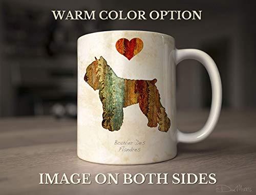 Bouvier des Flandres Dog Breed Mug by Dan Morris, Personalize with Dog Name
