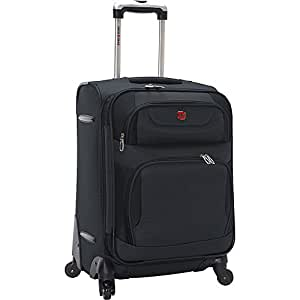 """SwissGear Spinner Luggage Collection Gray 20"""" Spinner"""