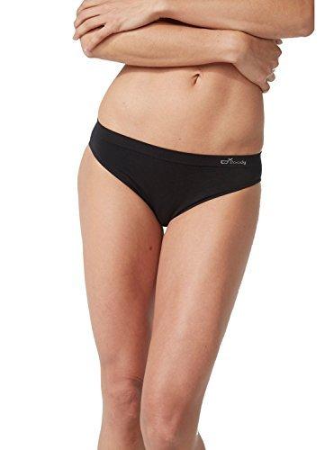 Boody Organic Bamboo EcoWear Women's Classic Bikini, Black, Medium ()