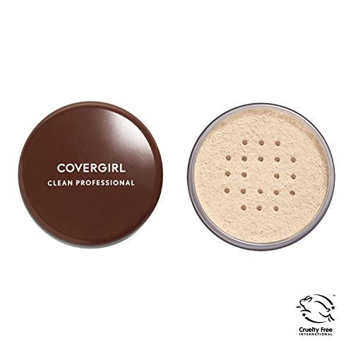 COVERGIRL Professional Loose Finishing Powder, 1 Container (0.7 oz), Translucent Fair Tone, Sets Makeup, Controls Shine, Won't Clog Pores (packaging may vary)