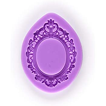 ecd906586d78 Tasty Molds Victorian Vintage Oval Mirror Frame Picture Silicone Fondant  Mold High Definition Quality Cupcake DIY Topper Cake Decoration Party Tool  for ...