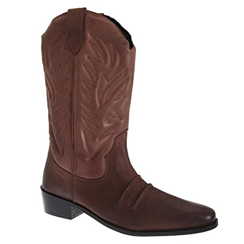 Western Boots Men's KANSAS Scuro Gringos Marrone Cowboy fpqHx0yEw