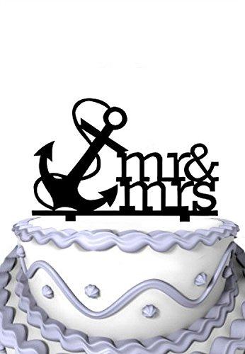 Meijiafei Script Mr & Mrs Anchor Nautical Wedding Engagement Party Decoration