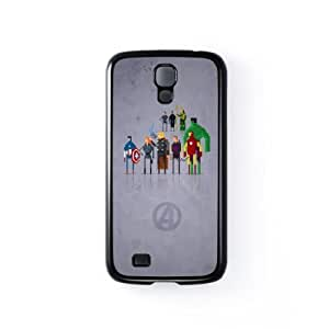 8Bit - Marvel Avengers Movie Black Hard Plastic Case Snap-On Protective Back Cover for Samsung? Galaxy S4 by DevilleArt + FREE Crystal Clear Screen Protector