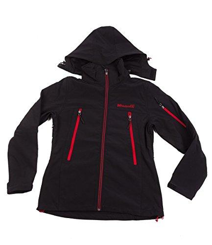 softshell- performances veste 8000mm cagoule noire - Noir, S