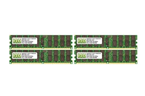 (16GB (4x4GB) DDR2-667MHz PC2-5300 ECC RDIMM 2Rx4 1.8V Registered Memory for Server/Workstation)