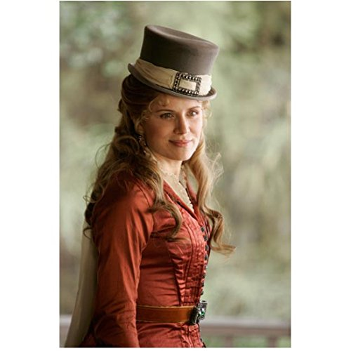 Deadwood (TV Series 2004 - 2006) (8 inch by 10 inch) PHOTOGRAPH Kim Dickens Coral Dress Pretty & Smiling (Dickens Dress)