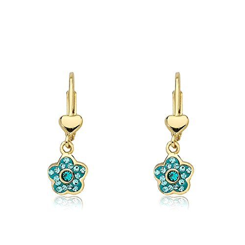 - Molly Glitz 14k Gold-Plated Leverback Dangle Earring with Crystals