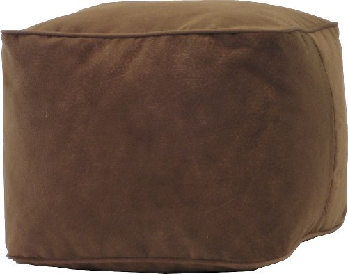 Gold Medal Bean Bags 1BF11858102 Gold Medal Microsuede Ottoman Bean Bag, Medium, Cocoa