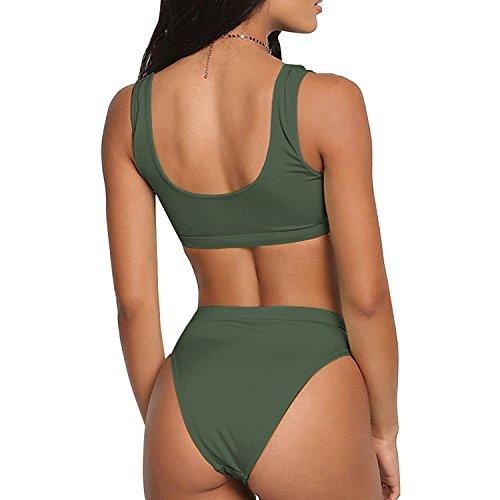Push Mare Verde Sexy Due Alta Vita per Donna Pezzi da Bikini up gEZnq7Ew
